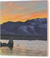 Mono Sunset Wood Print