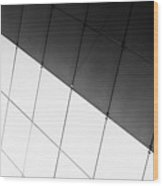 Monochrome Building Abstract 3 Wood Print