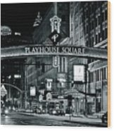 Monochrome Grayscale Palyhouse Square Wood Print