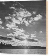 Monochrome Vintage Sunset  Wood Print