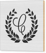 Monogram C Wood Print