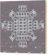 Monogram Qm Ivory Slate Wood Print