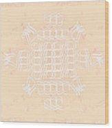 Monogram Qm Ivorypink Wood Print