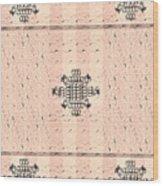Monogram Qm Stripes Mauvecharcoal 2 Wood Print