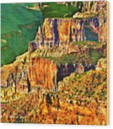 Monolith North Rim Grand Canyon Wood Print