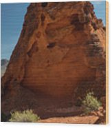Monolith Sculpture Valley Of Fire Wood Print