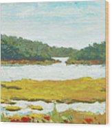 Monomoy River Wood Print