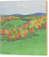 Monongalia County Autumn Wood Print