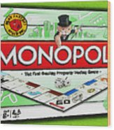 Monopoly Board Game Painting Wood Print