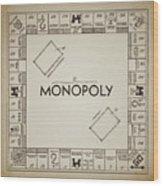 Monopoly Board Patent Vintage Wood Print