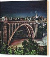Monroe St. Bridge Wood Print