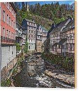 Monschau Village View Wood Print