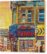 Monsieur Falafel Wood Print by Carole Spandau