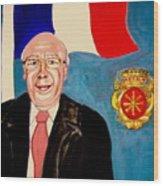 Monsieur Jean Claude Darque. Le Maire De Auchy Les Hesdin Wood Print