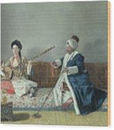 Monsieur Levett And Mademoiselle Helene Glavany In Turkish Costumes Wood Print