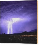 Monsoon Over Sedona Wood Print