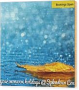 Monsoon Special One Day Picnic Spot Near Khadakwasla Splendour Country Wood Print