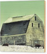 Monster Barn Wood Print