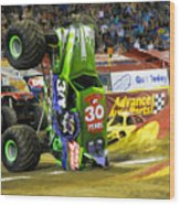 Monster Jam 2 Wood Print