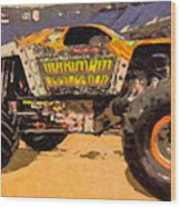 Monster Jam Party In The Pits Wood Print