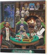 Monster Poker Wood Print