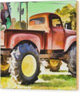 Monster Truck - Grave Digger 1 Wood Print