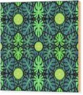 Monstera Leaves Pattern Wood Print