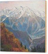 Mont Blanc France Wood Print