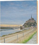 Mont St Michel At Sunset  Wood Print