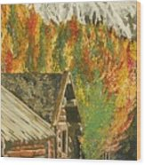 Montain Hide Out Wood Print