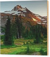 Montain Wood Print