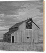 Montana Barn Memories Wood Print