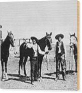 Montana: Cowboys, C1895 Wood Print