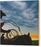 Montana Cowgirl ... Montana Art Photo Wood Print