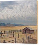Montana Farmyard Wood Print