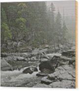 Montana Fog Wood Print