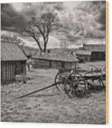 Montana Ghost Town Wood Print