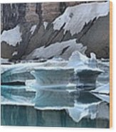 Montana Icebergs Wood Print