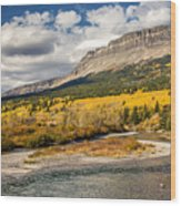 Montana Landscape In Fall Wood Print
