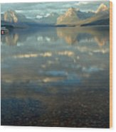 Montana Lonely Boat Wood Print