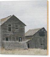 Montana Past Wood Print