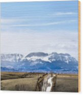 Montana Scenery One Wood Print