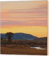 Montana Skies Wood Print