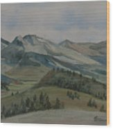 Montana Skyline Wood Print
