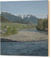 Montana Stream Wood Print