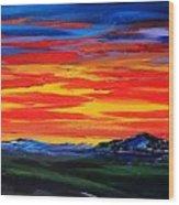Montana Sunset Colors                     72 Wood Print