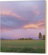 Montana Sunsets 3 Wood Print