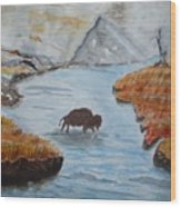 Montana Wildlife Wood Print