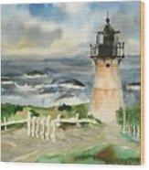 Montara Lighthouse, Plein Air Wood Print