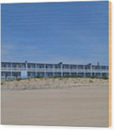 Building At The Beach, Montauk, Ny Wood Print